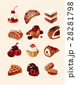 Vector set of decorative icons sweets 28281798