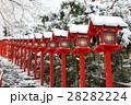 貴船神社 雪 灯篭の写真 28282224