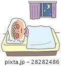 不眠 女性 不眠症のイラスト 28282486