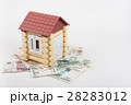 House stands on the banknotes of Russian rubles 28283012