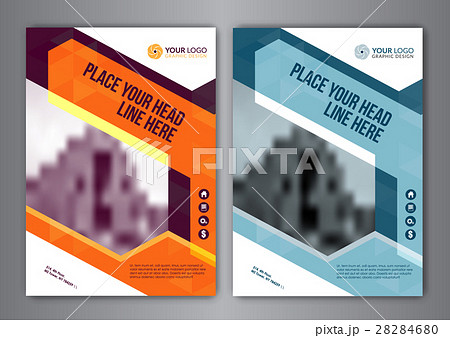 business brochure flyer design layout template のイラスト素材