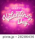 Valentines Day card or banner template with shiny 28286436
