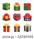 Gift box isolated present vector illustration. 28290589