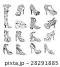 High-heeled shoes for woman. Fashion footwear 28291885