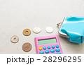 電卓とがま口財布 28296295