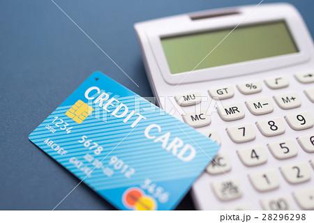 クレジットカードと計算器 28296298