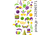 Cute Background for Mardi Gras and Carnival 28296571