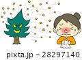 花粉症 女性 鼻炎のイラスト 28297140