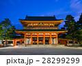 京都 平安神宮の応天門 早朝 28299299