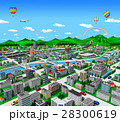 街 道路 気球のイラスト 28300619