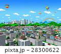 お城のある街と高層ビル_1 28300622