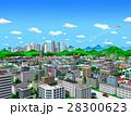 お城のある街と高層ビル_2 28300623