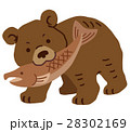熊 木彫り 木彫りの熊のイラスト 28302169