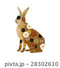 シルエット 和柄の兎 28302610