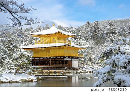 金閣寺の雪化粧 28303250