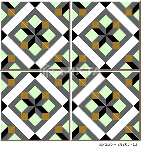 Ceramic tile pattern square geometry check cross 28305713 pixta - Tavole adesive per pareti 3d ...