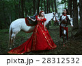 Medieval knight with lady 28312532
