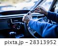 ハンドル 手 自動車の写真 28313952