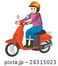 バイクに乗る女性 28315023