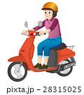 バイクに乗る女性 28315025
