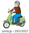 バイクに乗る男性 28315027