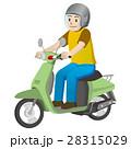 バイクに乗る男性 28315029