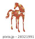 馬 和柄 年賀状素材のイラスト 28321991
