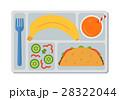 School lunch in flat style 28322044