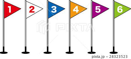 小学校運動会の徒競走 旗 順位 1着2着3着4着5着6着 28323523