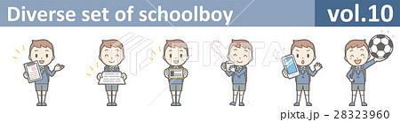 制服を着た小学生男児のイラストvol.10 28323960