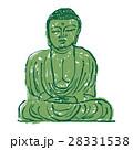 鎌倉大仏 水彩画 手描き 水墨画 28331538