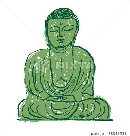 鎌倉大仏 水彩画 手描き 水墨画のイラスト素材 28331538 Pixta