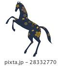 和柄 馬 跳ね馬のイラスト 28332770