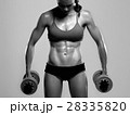 bodybuilder woman with dumbbells.beautiful girl 28335820