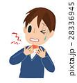 喉が痛い男性 28336945