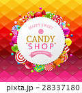 Colorful Background With Candy Banner 28337180