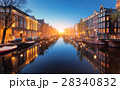 Cityscape at sunset in Amsterdam, Netherlands 28340832