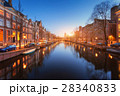 Cityscape at sunset in Amsterdam, Netherlands 28340833