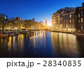 Cityscape at sunset in Amsterdam, Netherlands 28340835