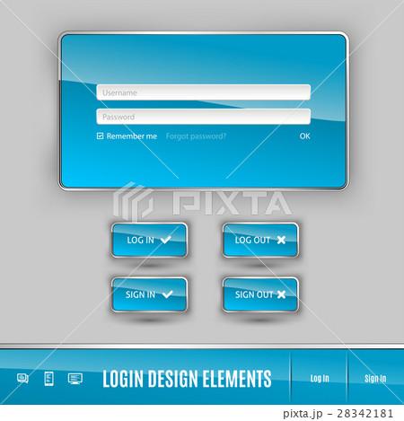 login templateのイラスト素材 28342181 pixta