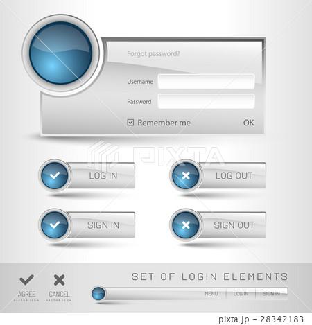 login templateのイラスト素材 28342183 pixta