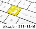 コンピュータ コンピューター 時計のイラスト 28343346