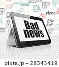 コンピュータ タブレット ニュースのイラスト 28343419