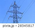 鉄塔 高圧送電線 冬 28345817