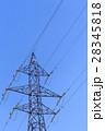 鉄塔 高圧送電線 冬 28345818