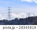 鉄塔 高圧送電線 冬 28345819