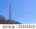 鉄塔 高圧送電線 冬 28345820
