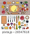 ピザ ピッツァ 調理のイラスト 28347618