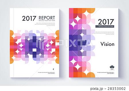 company profile template cover design のイラスト素材 28353002 pixta