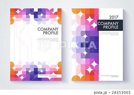 company profile template cover design のイラスト素材 28353003 pixta